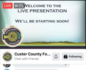 Facebook Live Screen